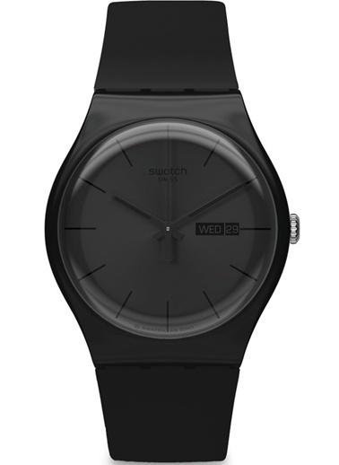 Swatch SUOB702 Siyah Kordonlu Erkek Saati Siyah